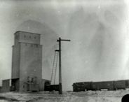 Grain elevator south of the Union Pacific bridge