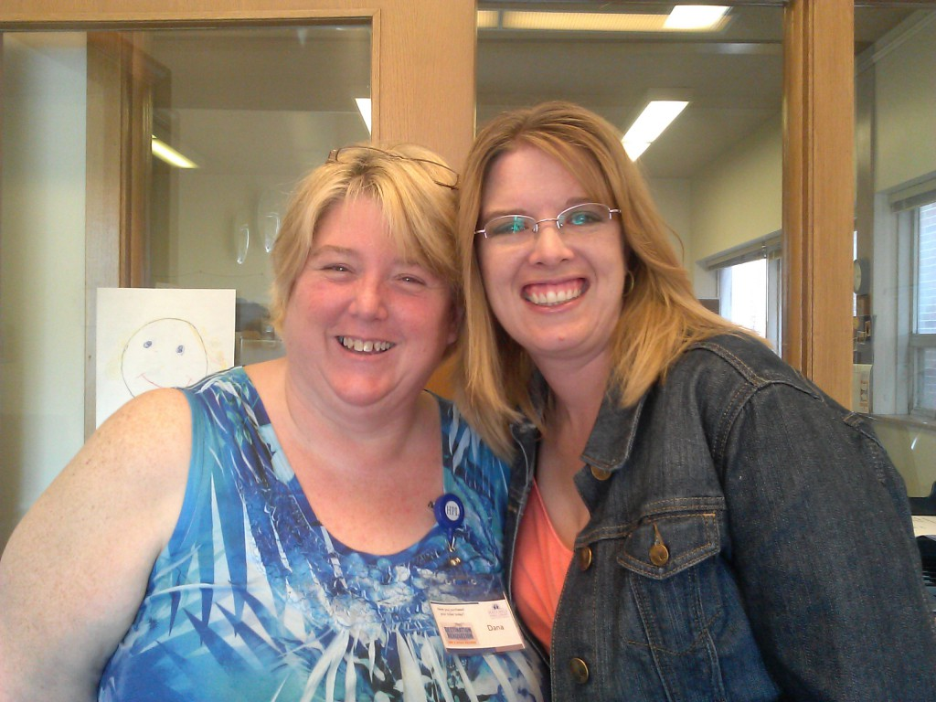 Monica Tidyman (r.) had the opportunity to complete her practicum at Hastings Public Library, where Dana Still (l.) works.