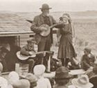 Man boy and girl performing musically