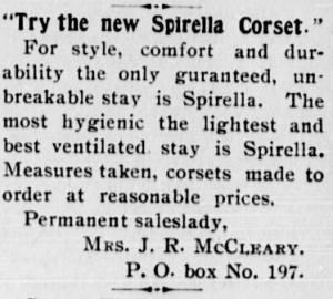 """Try the new Spirella Corset."""