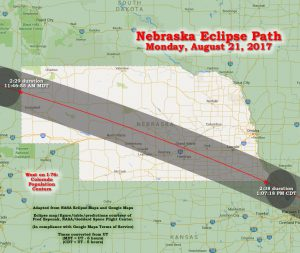 Nebraska Eclipse Path, 2017