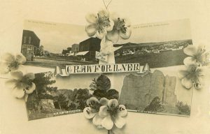 Souvenir postcard of Crawford, Nebraska, #1