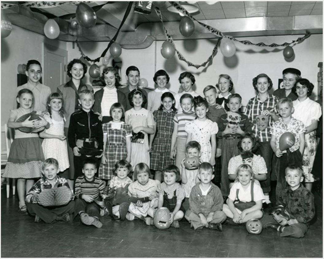 1951 Halloween party, Nebraska Children's Home Society