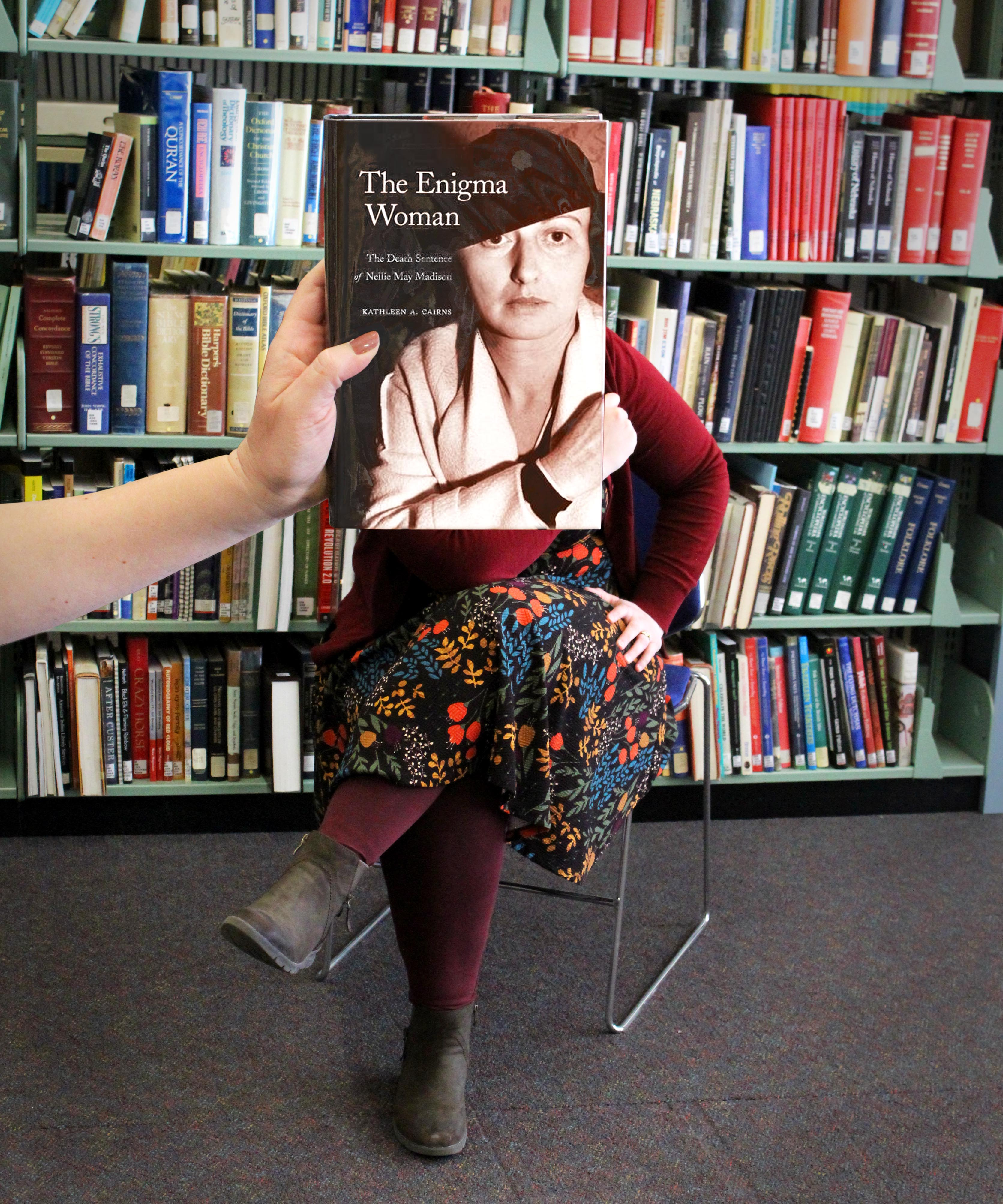 """The Enigma Woman"" BookFace Image"