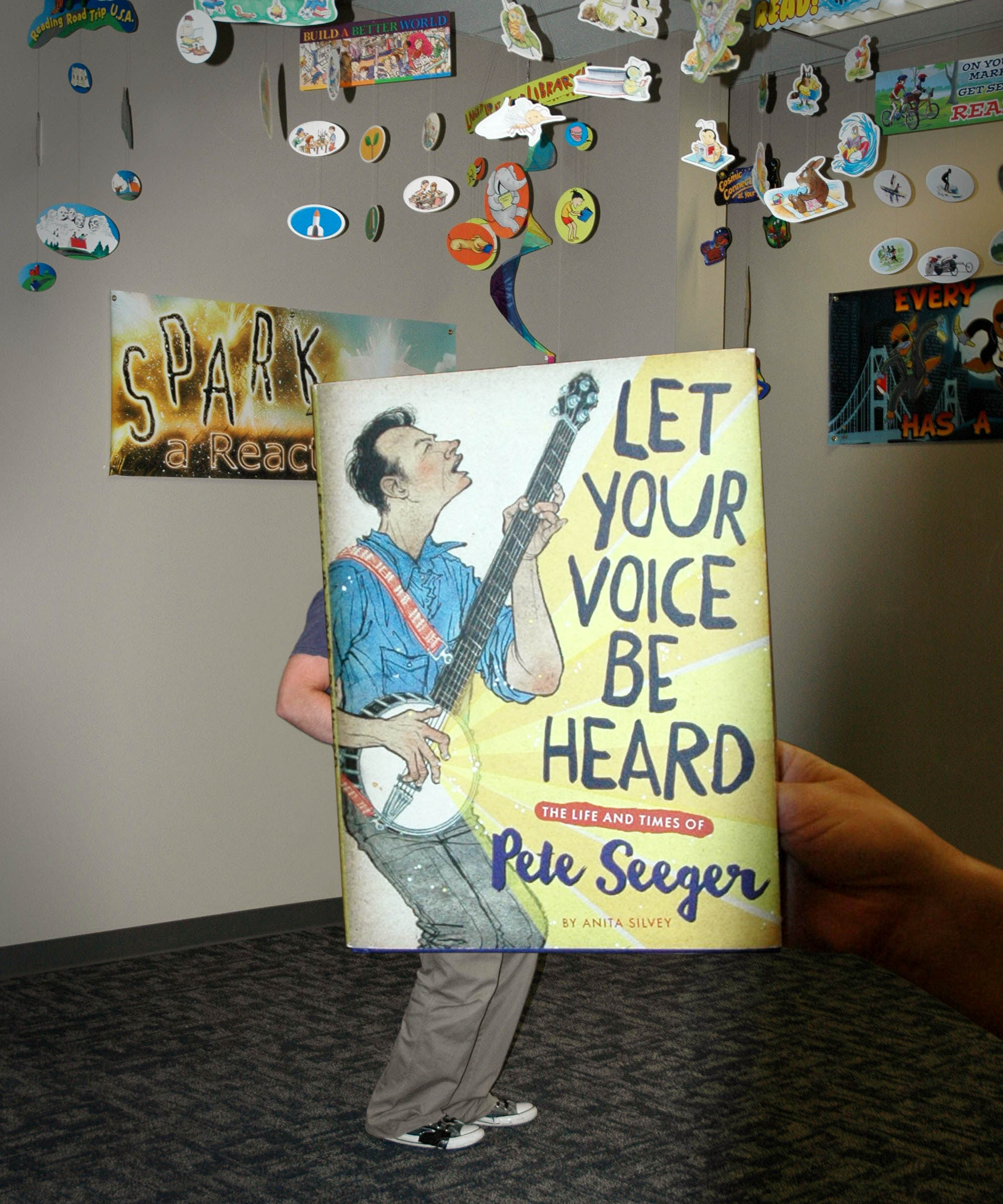 """Let Your Voice be Heard: the Life and Times of Pete Seeger"" BookFace Photo"