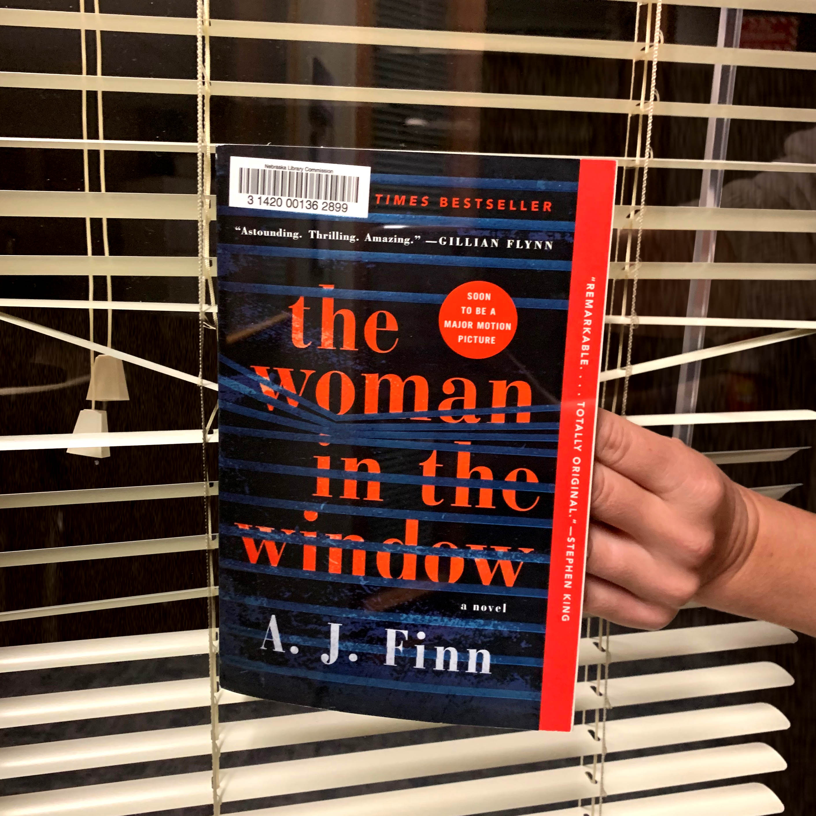 """The Woman in the Window"" Book Face image"