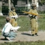 Orphans playing baseball